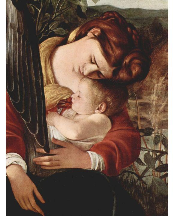 Lais Puzzle - Michelangelo Caravaggio - Die Ruhe auf der Flucht nach Ägypten, Detail: Maria und Christuskind - 500 & 1.000 Teile