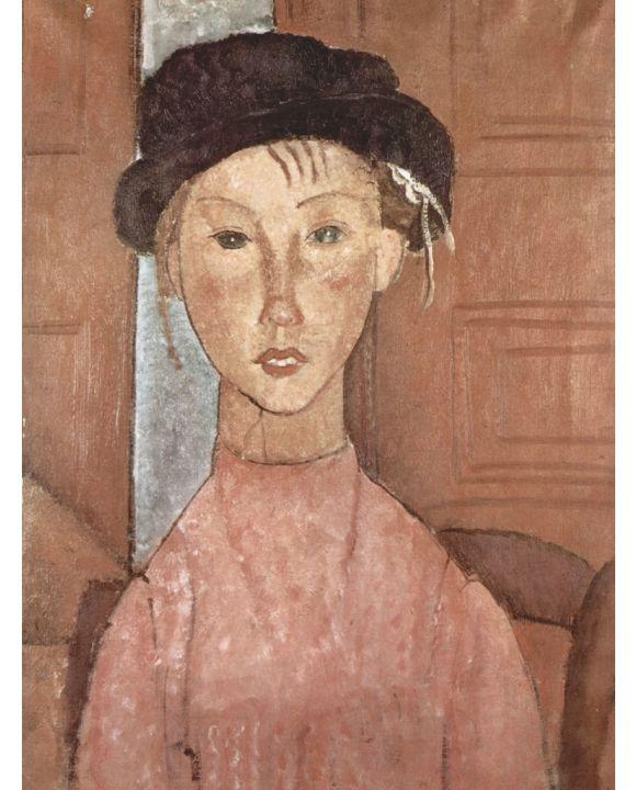 Lais Puzzle - Amadeo Modigliani - Mädchen mit Hut - 500 & 1.000 Teile