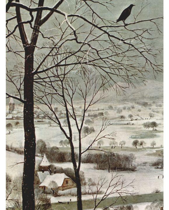 Lais Puzzle - Pieter Bruegel d. Ä. - Zyklus der Monatsbilder, Szene: Heimkehr der Jäger (Monat Januar), Detail - 500 & 1.000 Teile