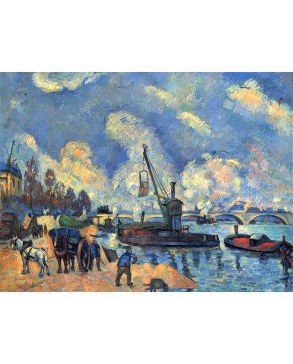 Lais Puzzle - Paul Cézanne - Die Seine bei Bercy, Gemälde nach Armand Guillaumin - 500 & 1.000 Teile