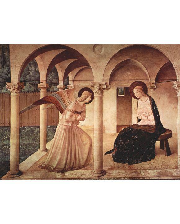 Lais Puzzle - Fra Angelico - Freskenzyklus im Dominikanerkloster San Marco in Florenz, Szene: Verkündigung - 500 & 1.000 Teile