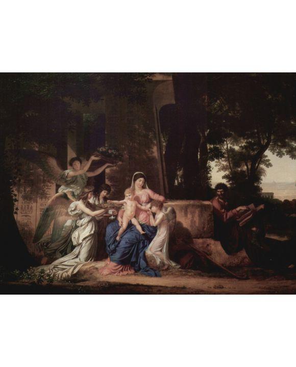 Lais Puzzle - Louis Gauffier - Ruhepause der Heiligen Familie in Ägypten - 500 & 1.000 Teile