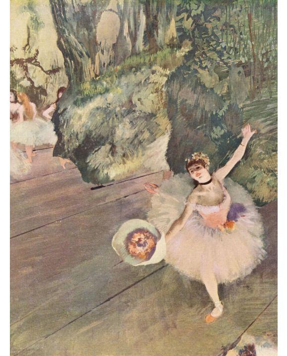 Lais Puzzle - Edgar Germain Hilaire Degas - Tänzerin mit Blumenstrauß (Der Star des Balletts) - 500 Teile