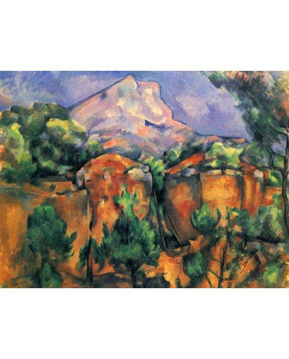 Lais Puzzle - Paul Cézanne - Montagne Sainte-Victoire, Blick vom Steibruch Bibémus - 500 & 1.000 Teile