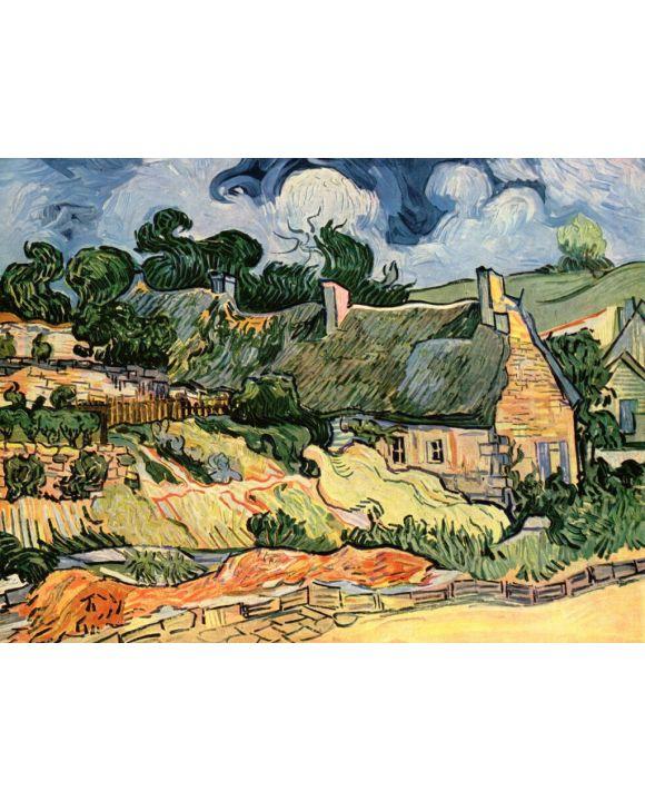 Lais Puzzle - Vincent Willem van Gogh - Hütten in Cordeville (Häuser in Auvers) - 2.000 Teile