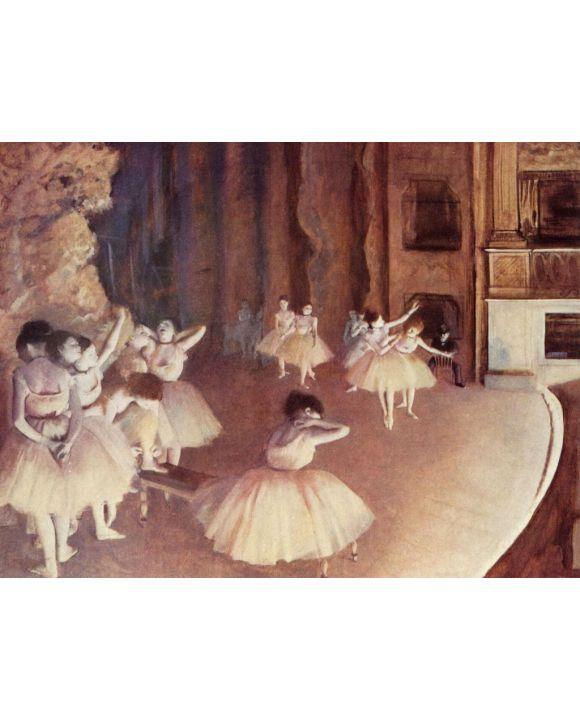 Lais Puzzle - Edgar Germain Hilaire Degas - Generalprobe des Balletts auf der Bühne - 1.000 Teile