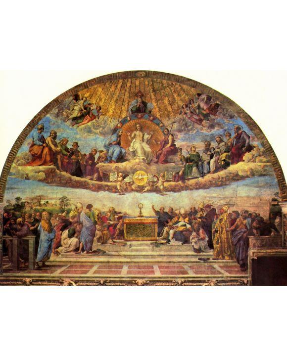 Lais Puzzle - Raffael - Stanza della Segnatura für Julius II., Verherrlichung (Disputa) des Hl. Altarssakraments - 1.000 Teile