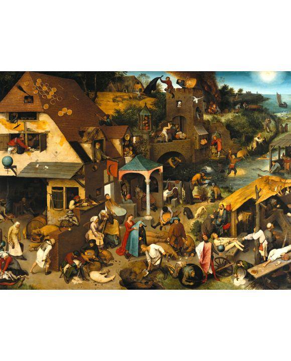 Lais Puzzle - Pieter Bruegel d. Ä. - Serie der bilderbogenartigen Gemälde,  Die niederländischen Sprichwörter - 2.000 Teile