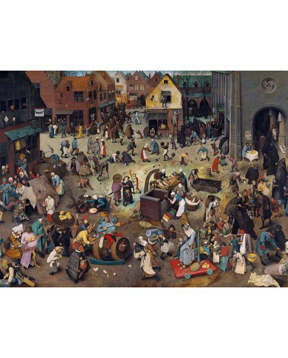 Lais Puzzle - Pieter Bruegel d. Ä. - Serie der bilderbogenartigen Gemälde, Streit des Karnevals mit der Fastenzeit - 500 & 1.000 Teile