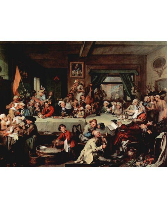Lais Puzzle - William Hogarth - Gemäldeserie »Wahlzyklus«, Szene: Das Bankett - 1.000 Teile