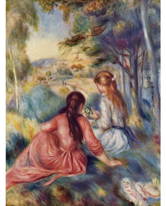 Lais Puzzle - Pierre-Auguste Renoir - Junge Mädchen auf der Wiese - 2.000 Teile