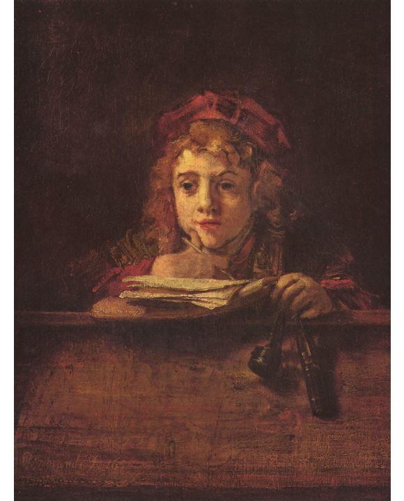 Lais Puzzle - Rembrandt Harmensz. van Rijn - Porträt des Titus schreibend an einem Tisch - 1.000 Teile