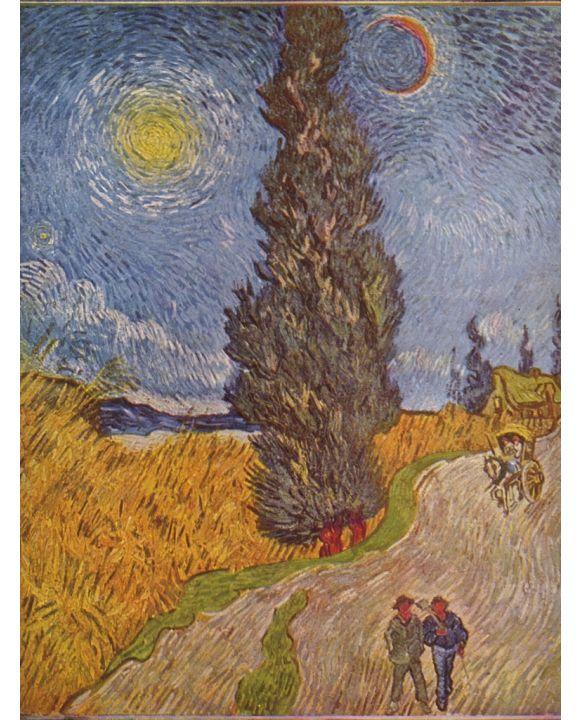 Lais Puzzle - Vincent Willem van Gogh - Landstraße mit Zypressen - 1.000 Teile