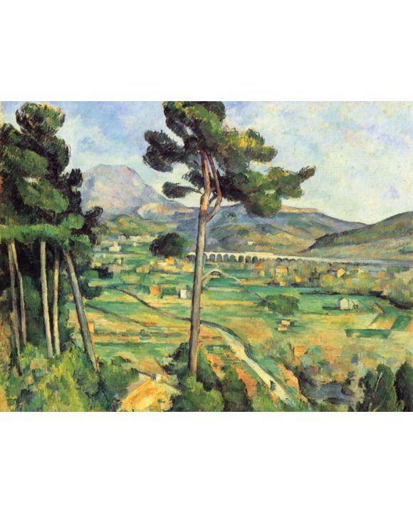 Lais Puzzle - Paul Cézanne - Montaigne Sainte-Victoire, von Bellevue aus gesehen - 1.000 Teile