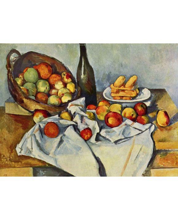 Lais Puzzle - Paul Cézanne - Stilleben mit Flasche und Apfelkorb - 500 & 1.000 Teile