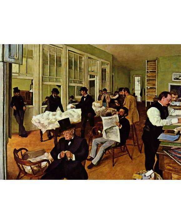 Lais Puzzle - Edgar Germain Hilaire Degas - Die Baumwollfaktorei - 1.000 Teile