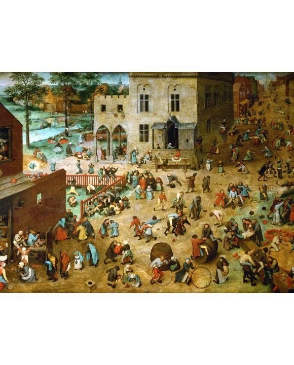Lais Puzzle - Pieter Bruegel d. Ä. - Serie der sogenannten bilderbogenartigen Gemälde, Szene: Die Kinderspiele - 500 & 1.000 Teile
