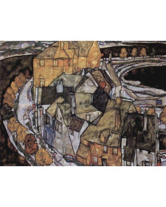 Lais Puzzle - Egon Schiele - Der Häuserbogen oder Inselstadt - 1.000 Teile