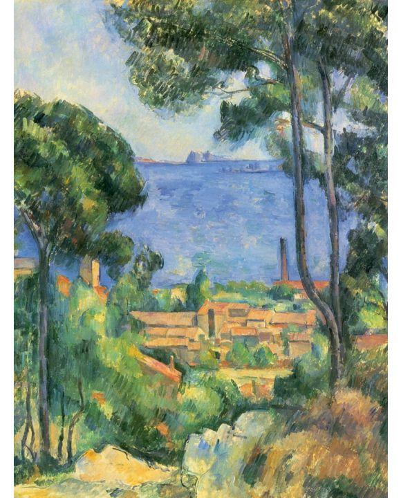 Lais Puzzle - Paul Cézanne - Blick auf L'Estaque und das Chateaux d'If (Das Meer bei L'Estaque) - 1.000 Teile