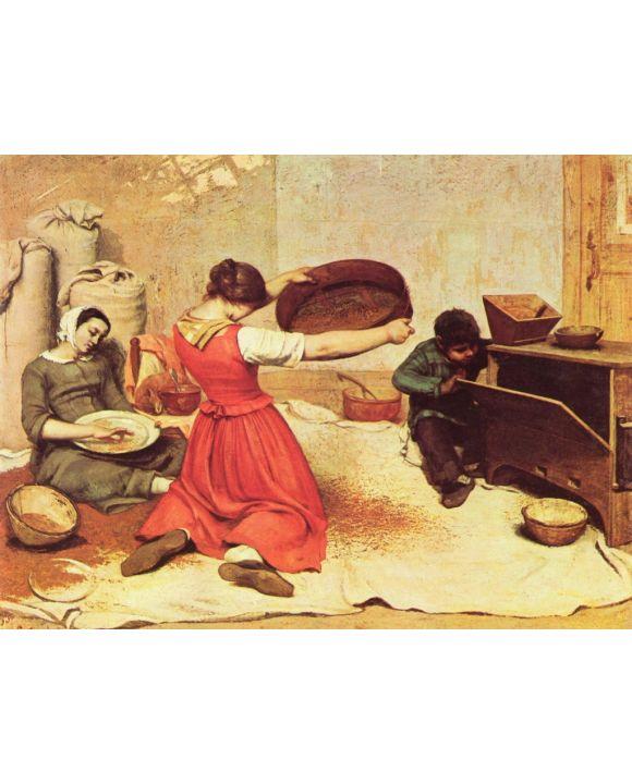Lais Puzzle - Gustave Courbet - Die Kornsieberinnen - 1.000 Teile
