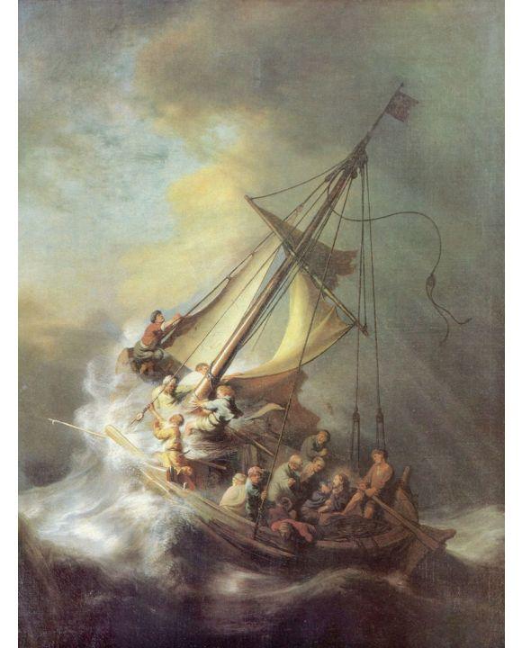 Lais Puzzle - Rembrandt Harmensz. van Rijn - Christus im Sturm auf dem See von Galilea - 1.000 Teile
