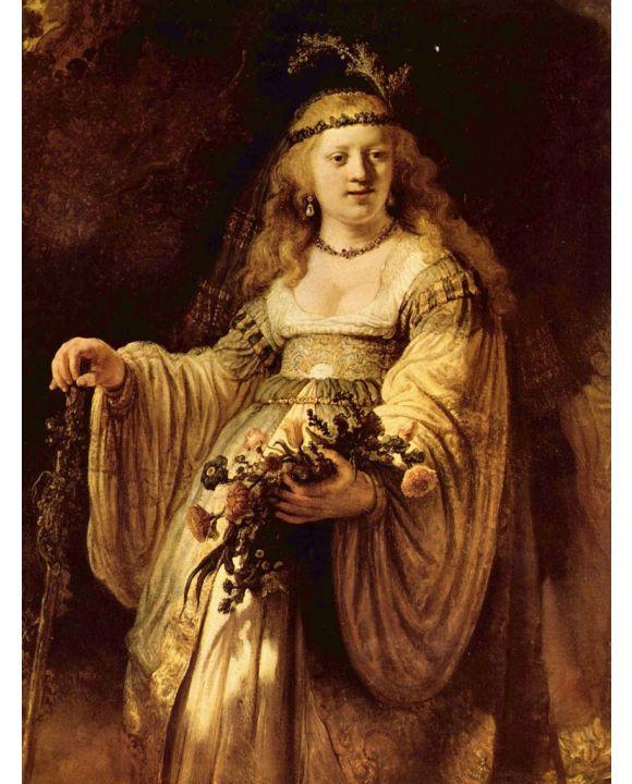 Lais Puzzle - Rembrandt Harmensz. van Rijn - Porträt der Saskia als Flora - 1.000 Teile