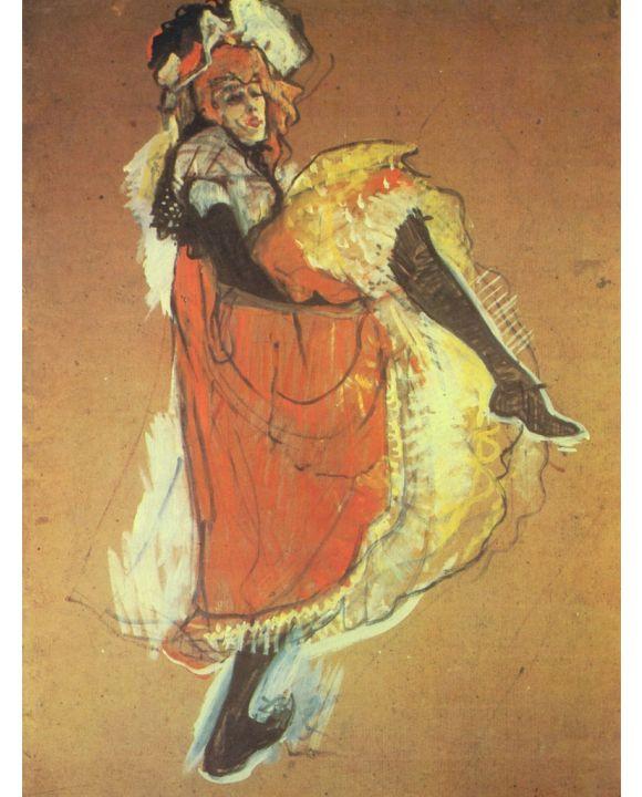 Lais Puzzle - Henri de Toulouse-Lautrec - Jame Avril tanzend, Studie für das Plakat »Jardin de Paris« - 1.000 Teile