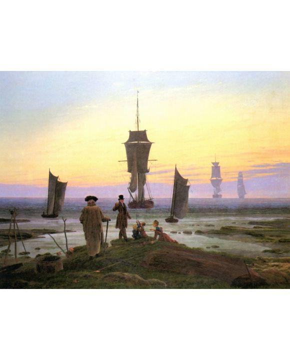 Lais Puzzle - Caspar David Friedrich - Die Lebensstufen (Strandbild, Strandszene in Wiek) - 1.000 Teile