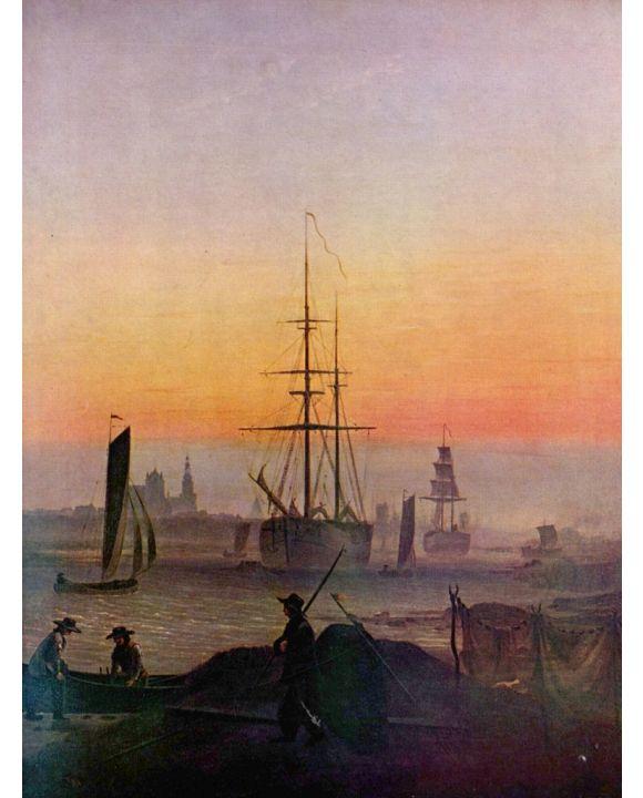 Lais Puzzle - Caspar David Friedrich - Schiffe im Hafen von Greifswald - 1.000 Teile