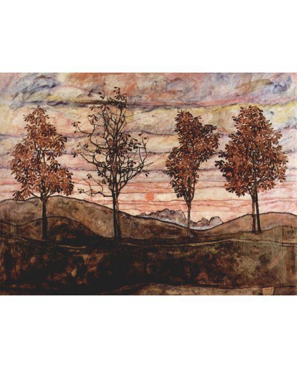 Lais Puzzle - Egon Schiele - Vier Bäume - 1.000 Teile