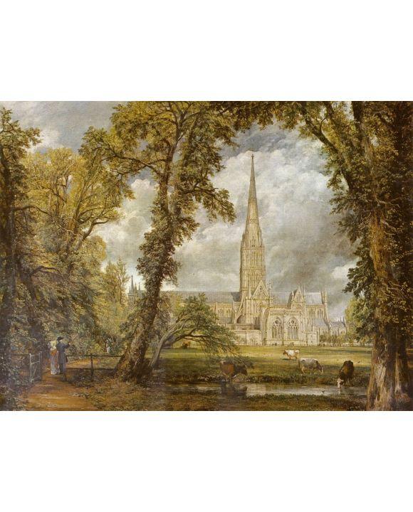 Lais Puzzle - John Constable - Die Kathedrale von Salisbury vom Garten des Bischofs aus gesehen - 1.000 Teile