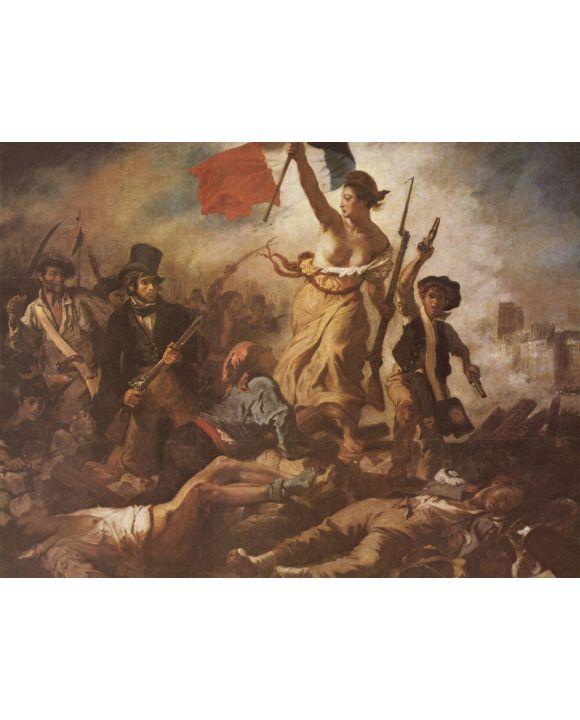 Lais Puzzle - Eugène Ferdinand Victor Delacroix - Die Freiheit führt das Volk an - 1.000 Teile