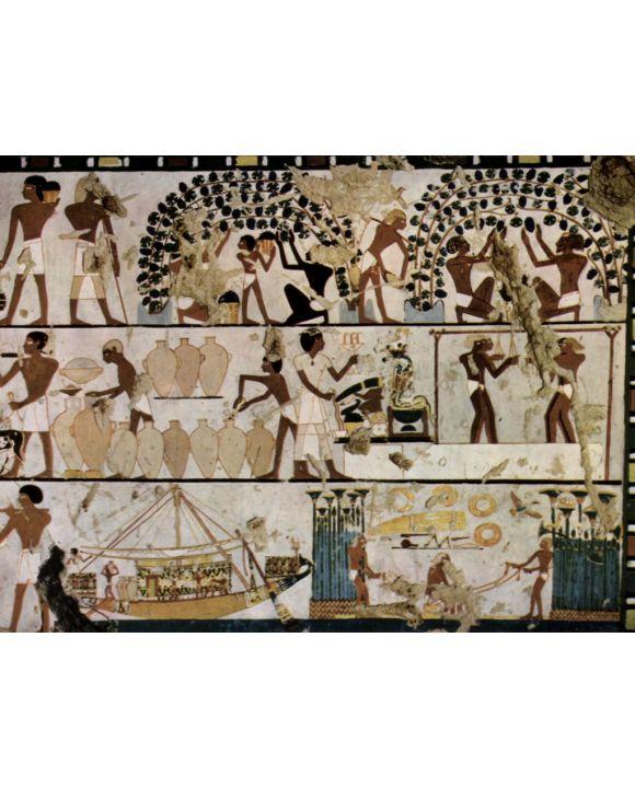 Lais Puzzle - Ägyptischer Maler um 1500 v. Chr. - Grabkammer eines Unbekannten, Szenen der Wandgestaltung - 1.000 Teile