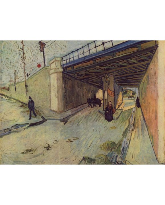 Lais Puzzle - Vincent Willem van Gogh - Eisenbahnbrücke über die Straße nach Tarascon - 1.000 Teile