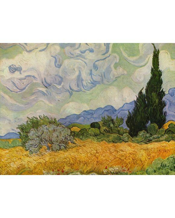 Lais Puzzle - Vincent Willem van Gogh - Weizenfeld mit Zypressen - 1.000 Teile
