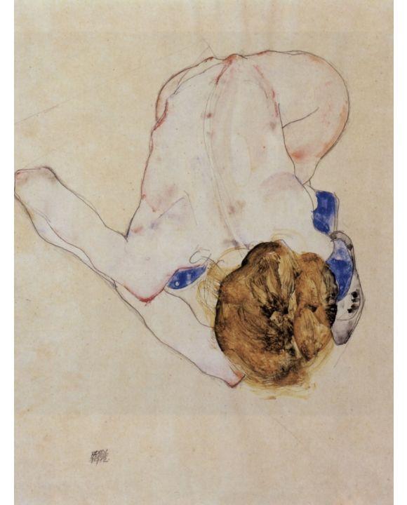 Lais Puzzle - Egon Schiele - Nach vorn gebeugter weiblicher Akt - 1.000 Teile