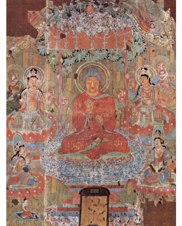 Lais Puzzle - Chinesischer Maler des 8. Jahrhunderts - Das Paradies des Buddha Amitabha - 1.000 Teile