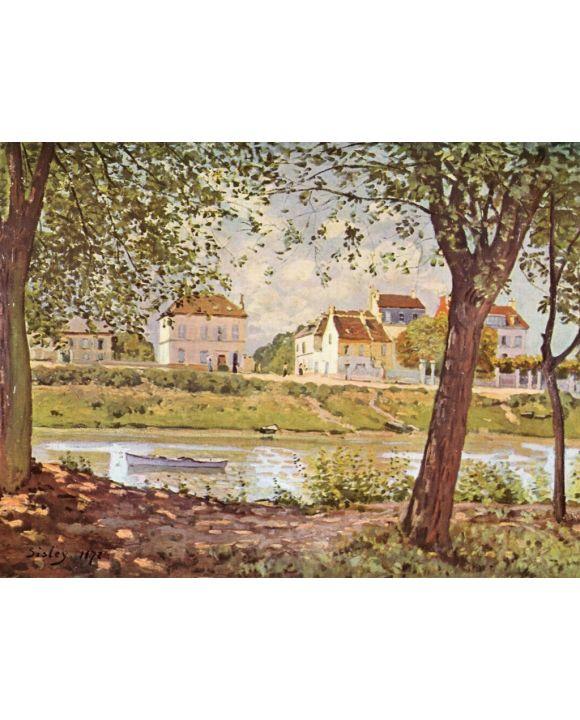 Lais Puzzle - Alfred Sisley - Dorf am Ufer der Seine - 1.000 Teile