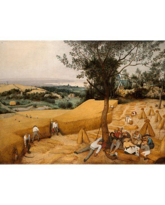 Lais Puzzle - Pieter Bruegel d. Ä. - Zyklus der Monatsbilder, Szene: Die Kornernte (Monat August) - 2.000 Teile