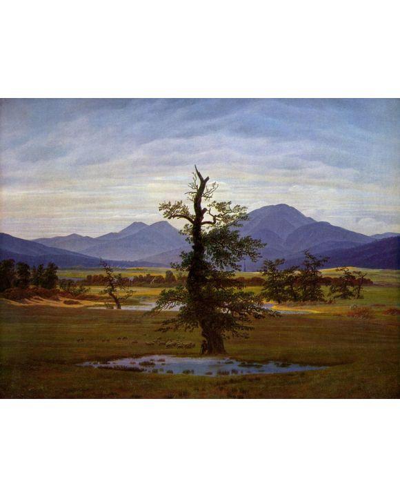 Lais Puzzle - Caspar David Friedrich - Einsamer Baum (Dorflandschaft bei Morgenbeleuchtung, Harzlandschaft) - 1.000 Teile