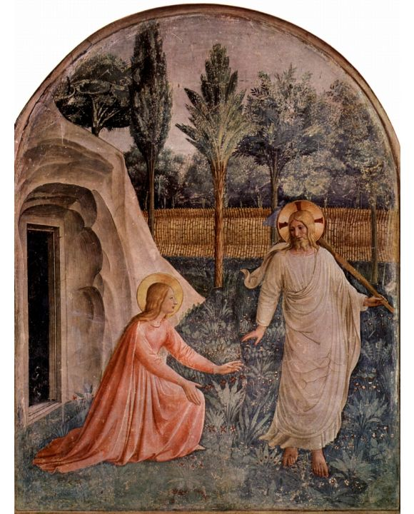 Lais Puzzle - Fra Angelico - Freskenzyklus im Dominikanerkloster San Marco in Florenz, Szene: Noli me tangere - 1.000 Teile
