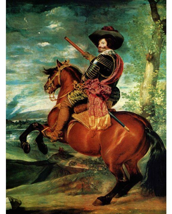 Lais Puzzle - Diego Velázquez - Porträt des Gaspar de Guzmán, Herzog von Olivares zu Pferd - 1.000 Teile