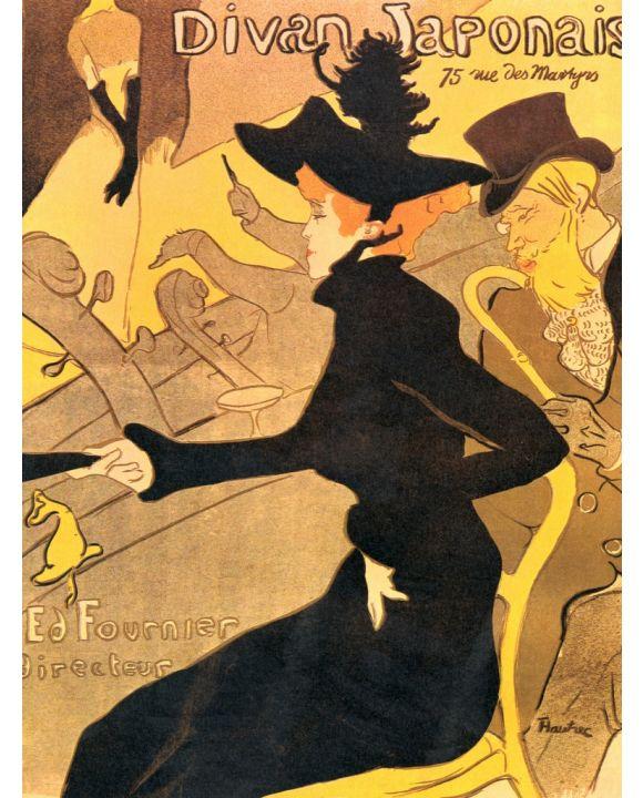 Lais Puzzle - Henri de Toulouse-Lautrec - Divan Japonais, Plakat - 1.000 Teile