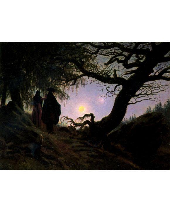 Lais Puzzle - Caspar David Friedrich - Mann und Frau den Mond betrachtend - 1.000 Teile