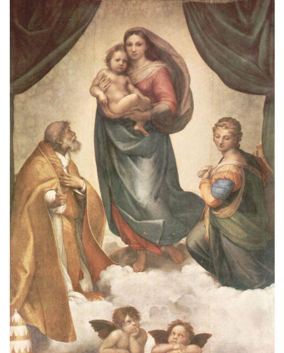 Lais Puzzle - Raffael - Sixtinische Madonna, Szene: Maria mit Christuskind, Hl. Papst Sixtus II. und Hl. Barbara - 500 & 1.000 Teile