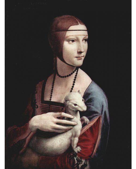 Lais Puzzle - Leonardo da Vinci - Porträt einer Dame mit Hermelin - 1.000 Teile