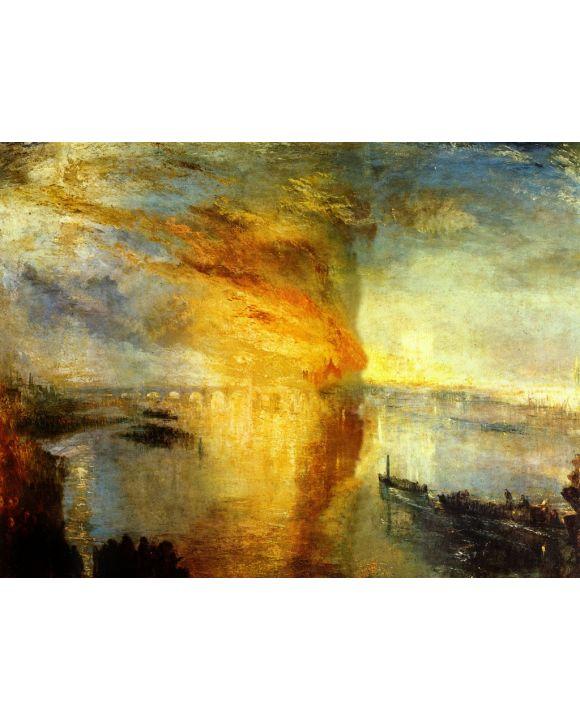 Lais Puzzle - Joseph Mallord William Turner - Der Brand des Parlamentsgebäudes, 16. Oktober 1834 - 1.000 Teile