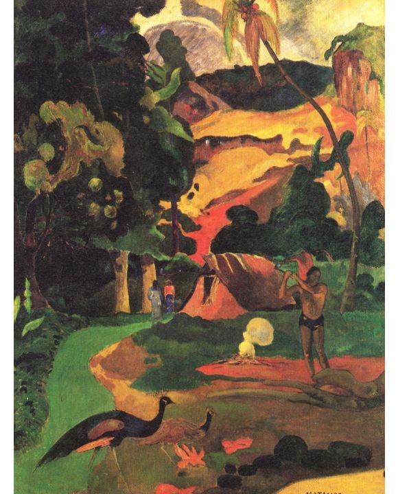 Lais Puzzle - Paul Gauguin - Landschaft mit Pfauen (Matamoe) - 1.000 Teile