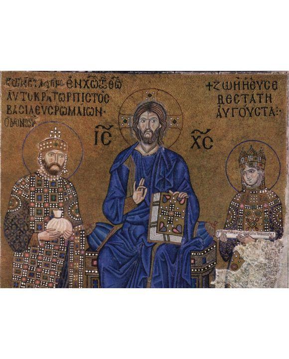 Lais Puzzle - Byzantinischer Mosaizist um 1020 - Thronender und segnender Christus zwischen Kaiser und Kaiserin  - 1.000 Teile