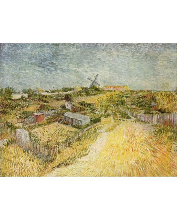 Lais Puzzle - Vincent Willem van Gogh - Gemüsegärten am Montmartre (La Butte Montmartre) - 500 & 1.000 Teile